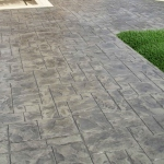 patio in stamped concrete