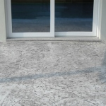 floors in stamped concrete stone effect