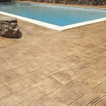 stamped concrete outdoor flooring wood effect