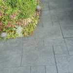 stamped concrete flooring using moulds